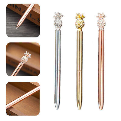 Pineapple Head Metal Ballpoint Pen Signature Stationery Students Writing Supply