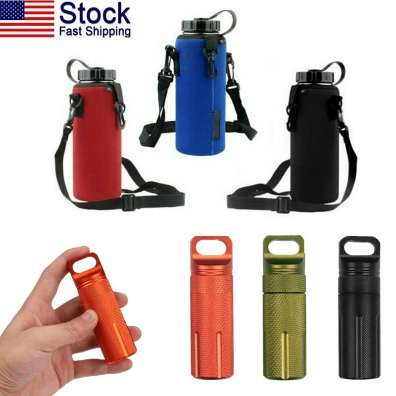 USA 1L Sports Water Bottle Bag Pouch Carrier Cover Waterproo
