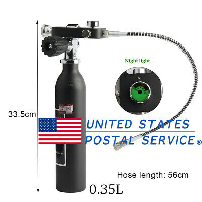 Paintball M18x1.5 0.35L Tank Cylinder With Scuba Tank Fill Adapter With K-Valve