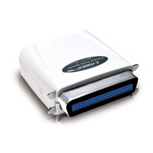 X-MEDIA XM-PS110P 1-Port 10/100Mbps Fast Ethernet Parallel Network Print Server
