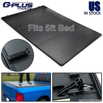 FIT FOR 2016-2021 TOYOTA TACOMA PICKUP TRI-FOLD HARD TONNEAU COVER 5FT SHORT BED