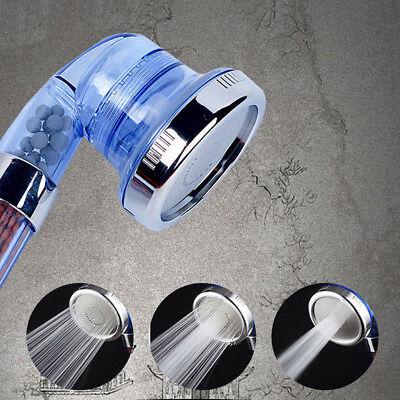 Hochdruck Duschkopf Verstärker 3-Modes Spray Regen Wasser Sparende Handbrause CX ()