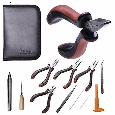 Best 11 Piece Jewelry Making Supply Kit - Pliers, Repair Tool Set, DIY,
