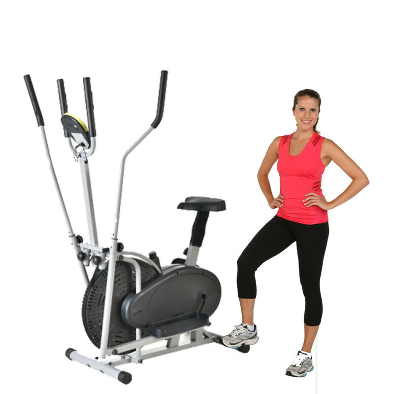 Elliptical Bike 2 in 1 Cardio Fitness Machine Workout Exercise Equipment