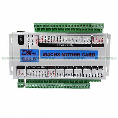 Mach3 Usb 4 Axis Cnc Motion Control Card Breakout Board 400khz Support Windows 7