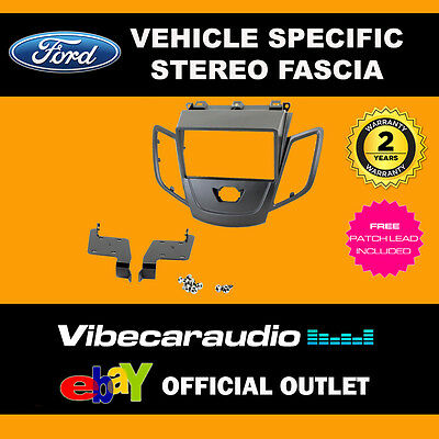 Ford Fiesta 2008 On Car Stereo Double Din Fascia Facia Panel Plate Kit CT23FD15