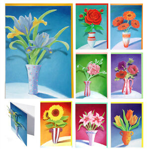 24-Blank-Greetings-Cards-with-Handcrafted-3D-Decoupage-Vases-of-Cut-Flowers