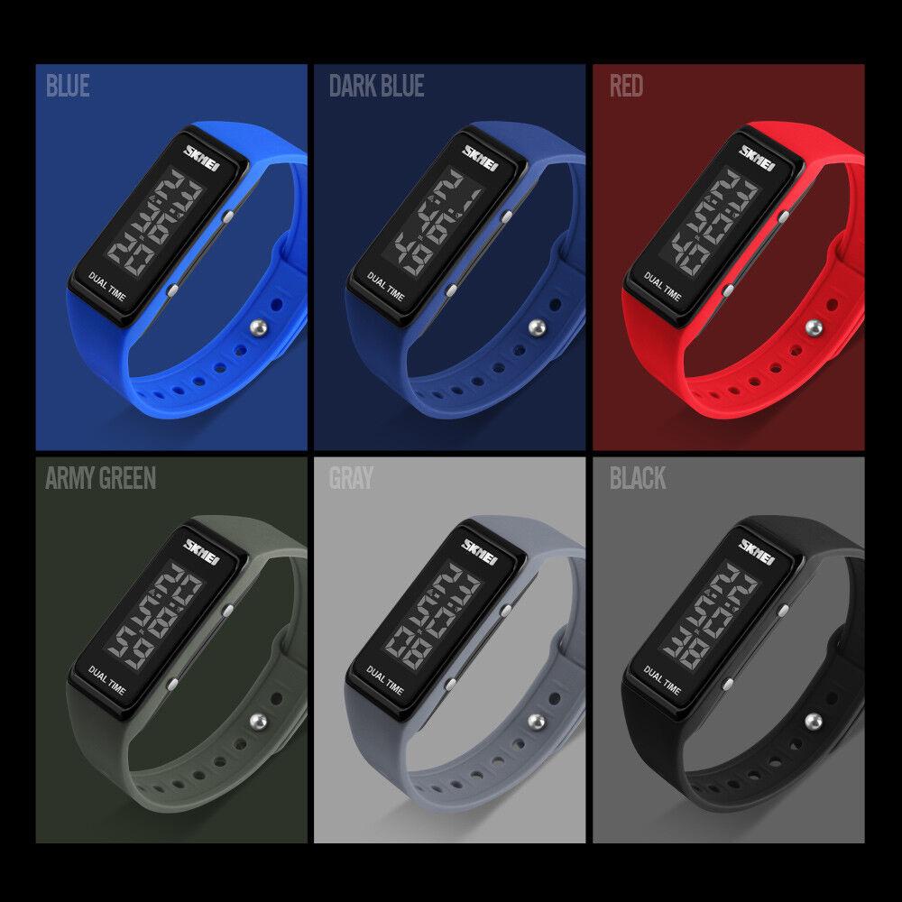 SKMEI 1277 LED Digitaluhr Kinder Herren Damen Silikon Armbanduhr Wasserdicht