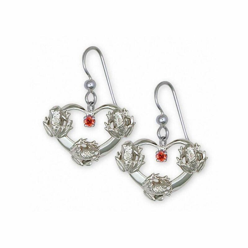 Frog Earrings Jewelry Sterling Silver Handmade Frog Earrings FG20-SE