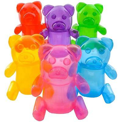6 LARGE 24 INCH TRANSPARENT INFLATABLE GUMMY BEARS inflate novelty candy toy new