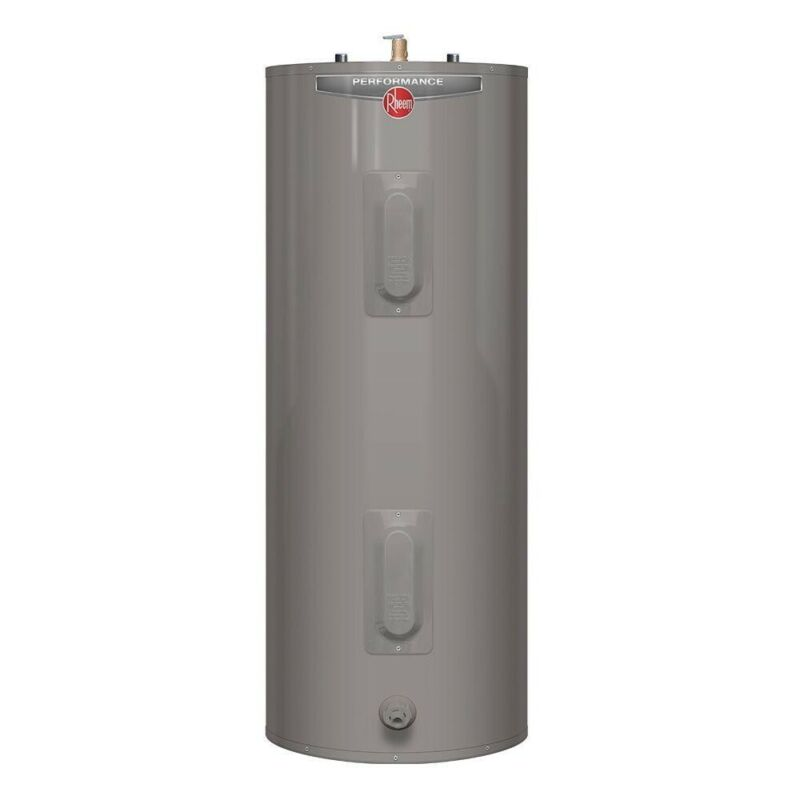 Rheem 40 Gallon Electric Water Heater Tall 6 Year 4500/4500 Watt Elements