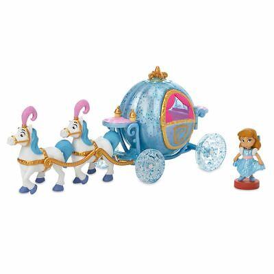 NEW Disney Animators' Collection Littles CINDERELLA Carriage Mini Set FREE SHIP