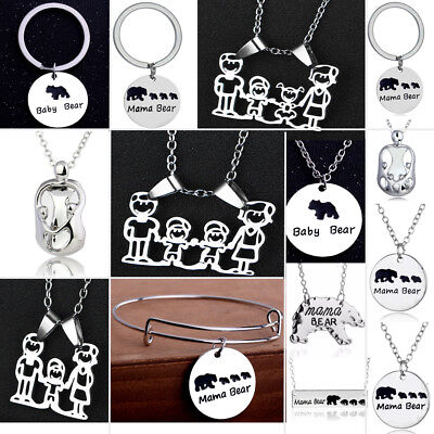 Mothers Day Father Children Pendant Necklace Gifts For Mom Dad Family Jewelry - Kids Necklaces