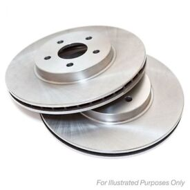 PAIR OF BMW BRAKE DISCS - BRAND NEW - MINTEX BRAND - for 1-series & 3-series E81 E82 E87 E90 E91 E92