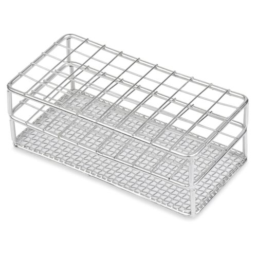 Stainless Steel Test Tube Rack, 12/13mm, 50 Place, Karter Scientific - 234H3