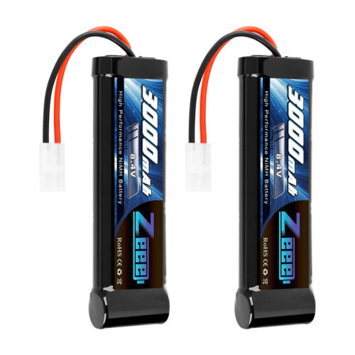 2pcs 3000mah 8 4v ni mh battery
