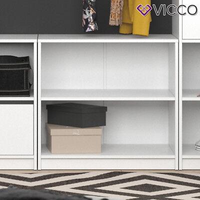 Vicco Kommode klein VISIT - zweigeteilt Sideboard Regal Schlafzimmer Umkleide
