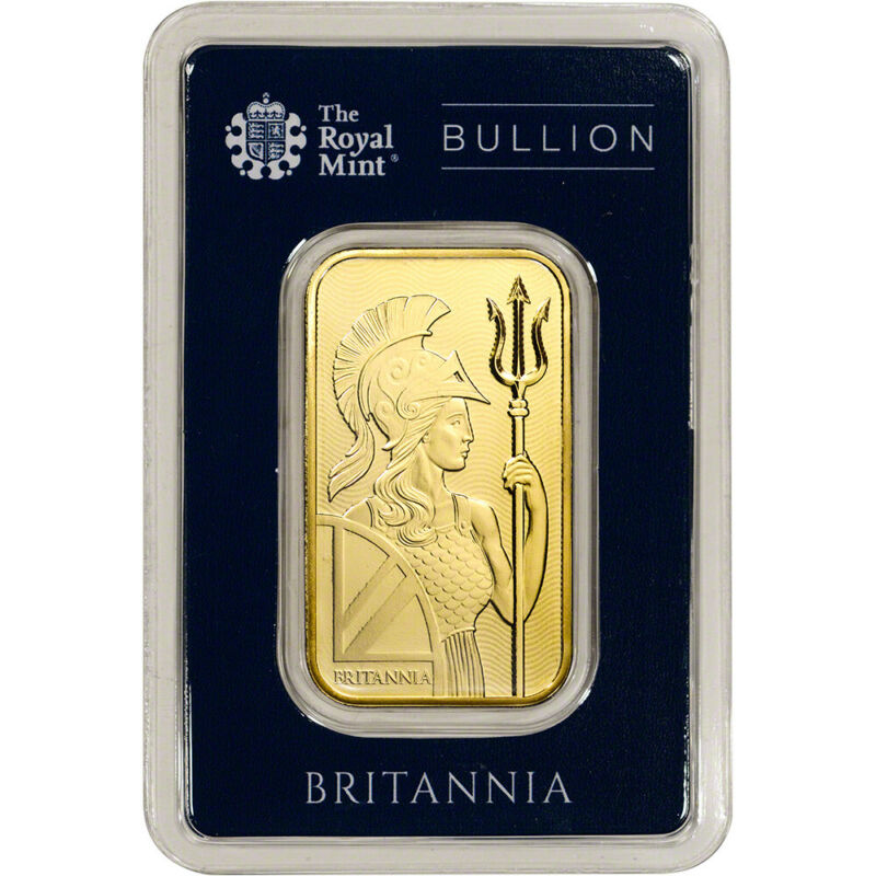 1 oz. Gold Bar - Royal Mint Britannia - 999.9 Fine in Assay