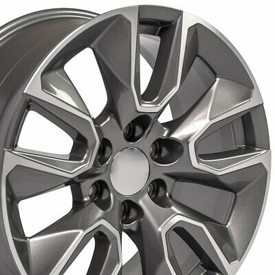 "20x9 23376222 Rim Fits GMC Sierra CV32 Gunmetal Machined 20"" wheel 5916"