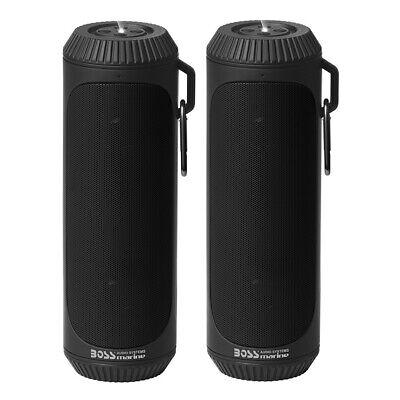 Босс Аудио Болт Марине Блуетоотх преносни звучници / у пару са батеријском лампом. Црн