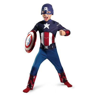 The Avengers Captain America Halloween Costume (LICENSED THE AVENGERS CAPTAIN AMERICA BOYS HALLOWEEN COSTUME CHILD SIZE MEDIUM)