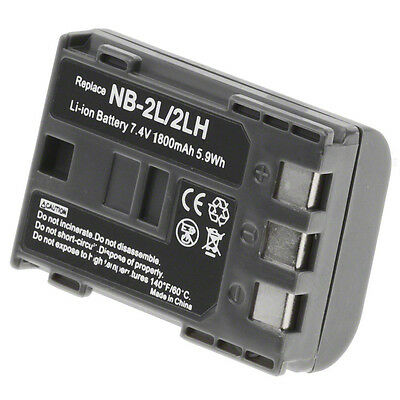 NB-2LH Battery for Canon E160814 Camera & Video Camera 1800mAh Li-Ion USA