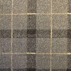 Sand Brown 07 Tartan Plaid Check Patterned Carpet 4m Wide