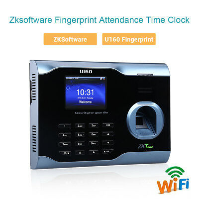 Zksoftware U160 3 Biometric Fingerprint Time Attendance Time Clock Recorder