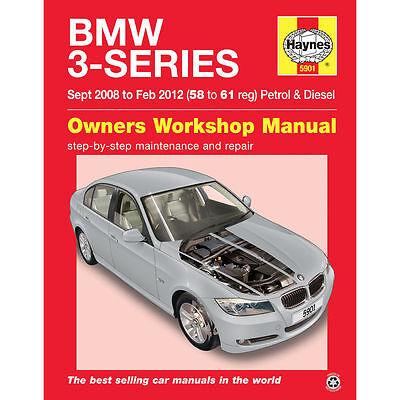 BMW 3-Series 320i Petrol & 320 330d Diesel Sept 2008-Feb 2012 Haynes Manual 5901
