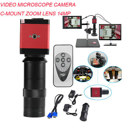 8-130x 14mp 1080p Hd Hdmi Vga Digital Video Industrial Microscope Camera Set