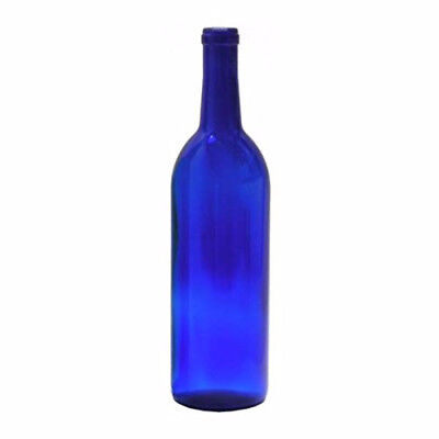 750 ml Cobalt Blue Glass Claret/Bordeaux Bottles, 12 per case For Wine Making