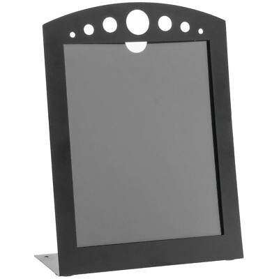 Sign Holder Arc with Circle Cut Outs Black Metal - 8 1/2