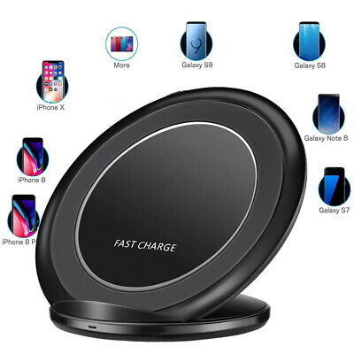 Original Fast Qi Wireless Charger Pad For Samsung Galaxy S8 S9Plus Note9 S7 S10+