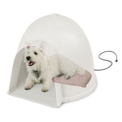 """KH Pet Products Lectro-Soft Igloo Style Outdoor Heated Bed Small Tan 11.5"""" x 18"""""""