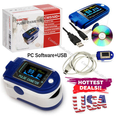 24 Hours Pulse Oximeter Usb Spo2 Blood Oxygen Daily Night Sleep Study Monitorcd