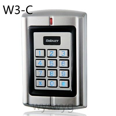 Waterproof RFID Card Door Access Controller or Wiegand 26 ID Reader Output W3-C
