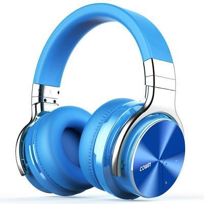 COWIN E7 PRO [2018 Upgrade] Active Noise Cancelling Bluetooth Headphones - Blue