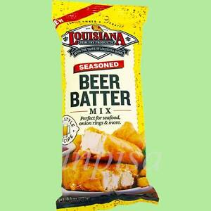 Louisiana beer batter mix 3 bags x 8 5oz pub style recipe for Best fish fry batter