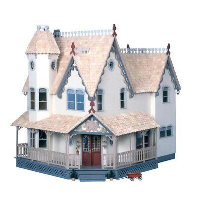 Large Wooden Doll House Vintage Victorian Kit Wood Dollhouse DIY Mansion Girls