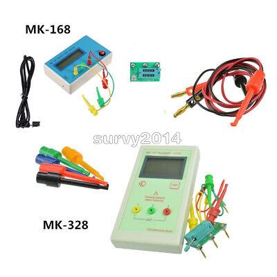 Mk-328mk-168 Lcd Tr Transistor Tester Diode Lcr Esr Meter Test Hook Clips Probe