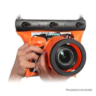 Underwater Waterproof Diving Bag Case Pouch for DSLR Digital Lens Camera Orange