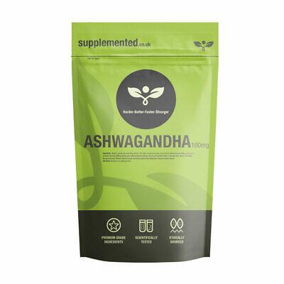 ASHWAGANDHA 1000mg TABLETS Energy ✔UK Made ✔Letterbox Friendly