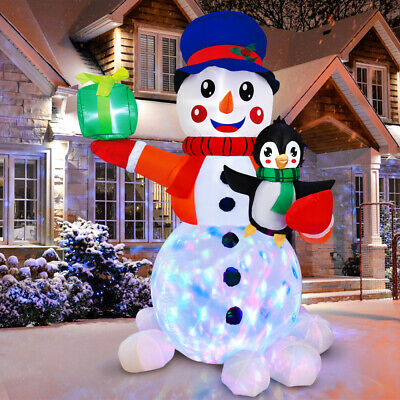 Christmas 6FT Inflatable LED Light Up Snowman Outdoor Yard Decoration Xmas USA