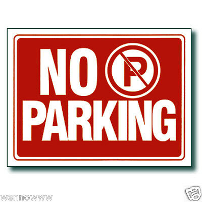 2 Pcs 9 X 12 Inch Red White Flexible Plastic No Parking Sign