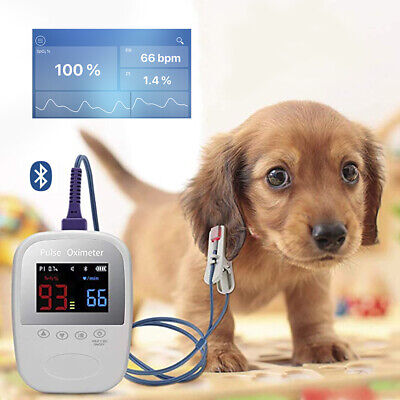 Handheld Bluetooth Pet Animal Veterinary Spo2 Pulse Oximeter Monitoring Fdace