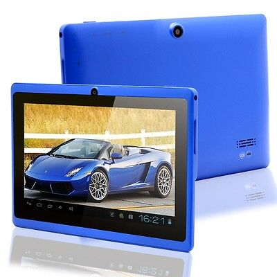 "2013 Lastest 7"" Android 4.2 Capacitive Dual Camera A13 4GB Wifi Tablet PC Blue"