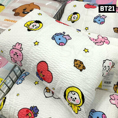 BTS BT21 Official Authentic Goods Baby Twinkle Ripple Pillow 60 x 40cm + Track#