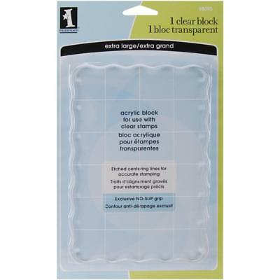 """Clear Acrylic Mounting Block For Rubber Stamps 4.5""""X6.5""""X.5"""" in Inkadinkado NEW"""