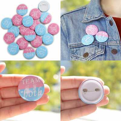 Team Girl & Boy Button Pins Gender Reveal Party Games Baby Shower Ideas Wear You