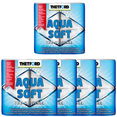 5x Toilettenpapier von Thetford Aqua Soft SUPER GÜNSTIG 20 Rollen Camping Zelten